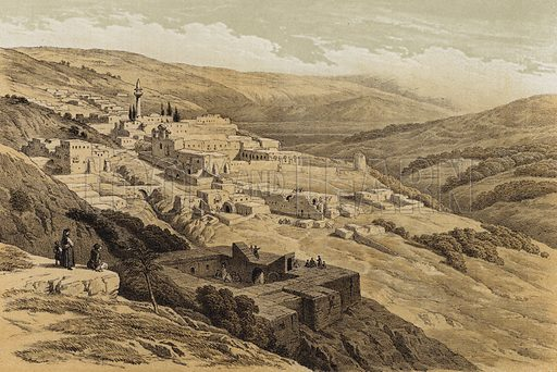 Convent of the Terra Santa, Nazareth. Illustration for The Life of Christ by F W Farrar (Cassell, c 1880).