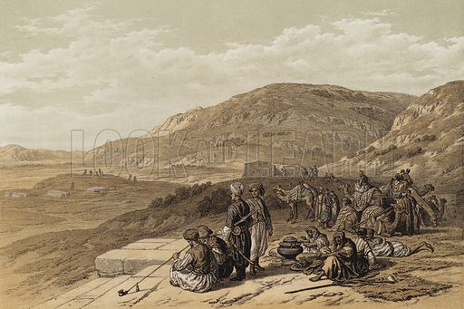 Jacob's Well at Shechem. Illustration for The Life of Christ by F W Farrar (Cassell, c 1880).