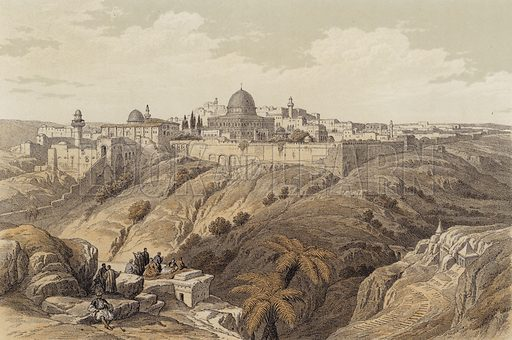 Jerusalem, the Church of the Purification. Illustration for The Life of Christ by F W Farrar (Cassell, c 1880).