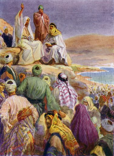 The sermon on the mount. Illustration for The Little Bible, An Anthology (Oxford, 1935).