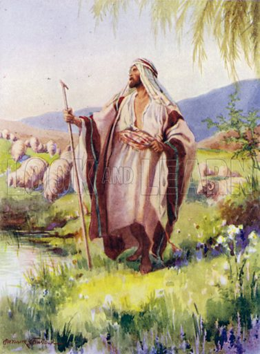 The Lord is my shepherd. Illustration for The Little Bible, An Anthology (Oxford, 1935).