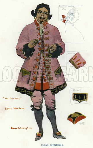 Isaac Mendoza. Illustration for The Duenna, a comic opera in three acts by Richard Brinsley Sheridan, with an introduction by Nigel Playfair, and illustrated with the designs for costumes and scenery used in the production at the Lyric Theatre Hammersmith and other drawings by George Sheringham (Constable, 1925).