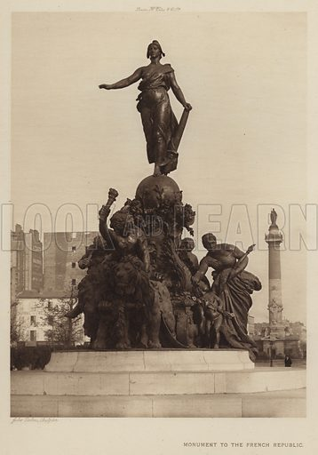 Monument to the French Republic. Illustration for The Paris Exhibition 1900 (Art Journal, 1901).