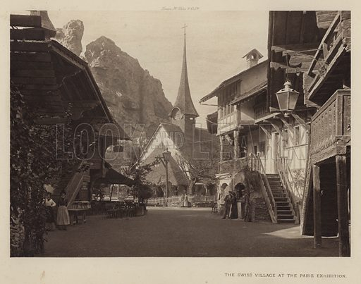 The Swiss Village at the Paris Exhibition. Illustration for The Paris Exhibition 1900 (Art Journal, 1901).