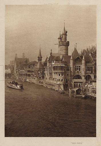 """""""Old Paris."""" Illustration for The Paris Exhibition 1900 (Art Journal, 1901)."""