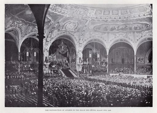 The Distribution of Awards in the Salle Des Fetes, 18 August 1900. Illustration for The Paris Exhibition 1900 (Art Journal, 1901).
