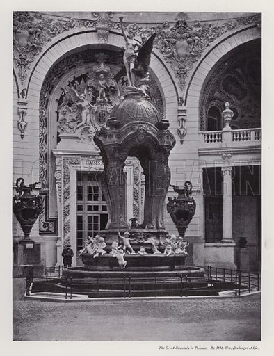 The Great Fountain in Faience, by MM Hte Boulenger et Cie. Illustration for The Paris Exhibition 1900 (Art Journal, 1901).