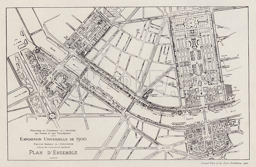 Ground Plan of the Paris Exhibition, 1900. Illustration for The Paris Exhibition 1900 (Art Journal, 1901).