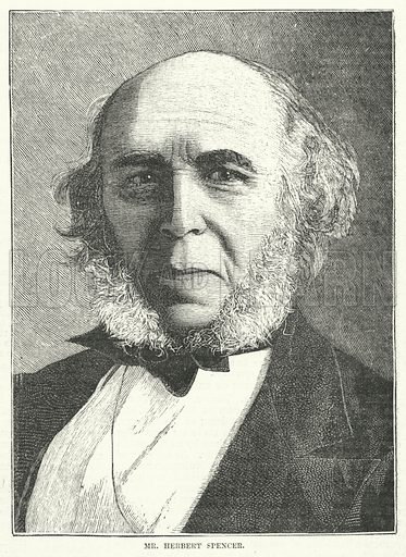 Mr Herbert Spencer. Illustration for The Review of Reviews edited by W T Stead VOL XI (January-June, 1895).