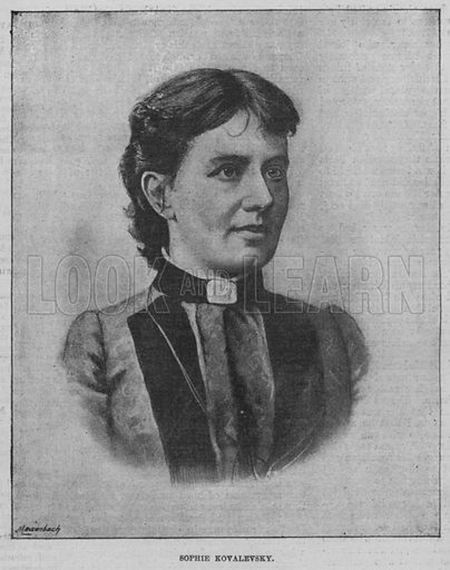 Sophie Kovalevsky. Illustration for The Review of Reviews edited by W T Stead VOL XI (January-June, 1895).