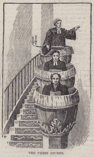 The three decker. Illustration for The Review of Reviews edited by W T Stead VOL XI (January-June, 1895).