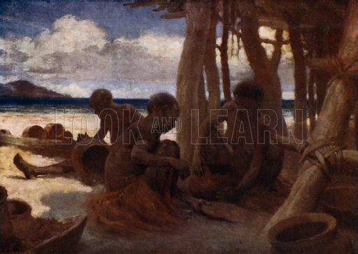 Old Women making Pottery, British New Guinea. Illustration for The Savage South Seas described by E Way Elkington (A&C Black, 1907).