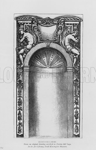 Design for Niche. Illustration for The South Kensington Museum, Examples of the Works of Art in the Museum and of the Decorations of the Building with Brief Descriptions (1881).