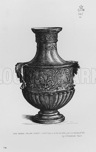 Vase, bronze, Italian, 15th century. Illustration for The South Kensington Museum, Examples of the Works of Art in the Museum and of the Decorations of the Building with Brief Descriptions (1881).
