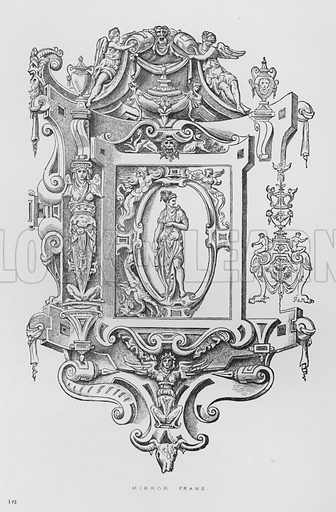 Mirror Frame. Illustration for The South Kensington Museum, Examples of the Works of Art in the Museum and of the Decorations of the Building with Brief Descriptions (1881).