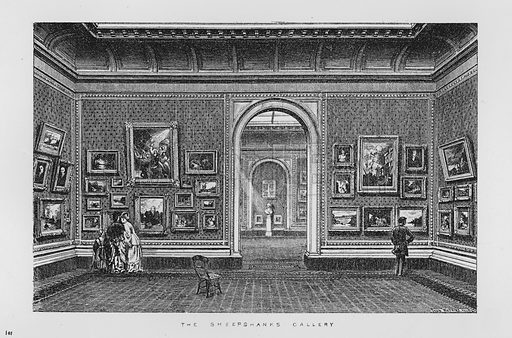 The Sheepshanks Gallery. Illustration for The South Kensington Museum, Examples of the Works of Art in the Museum and of the Decorations of the Building with Brief Descriptions (1881).