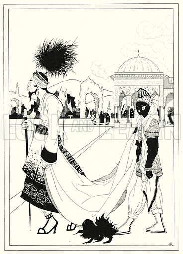 The Chief Vizier. Illustration for The Story of Aladdin and the Wonderful Lamp, told by John Kettelwell with illustrations and other embellishments by the Author (Knopf, 1928).