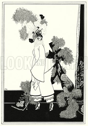 Little Princess. Illustration for The Story of Aladdin and the Wonderful Lamp, told by John Kettelwell with illustrations and other embellishments by the Author (Knopf, 1928).