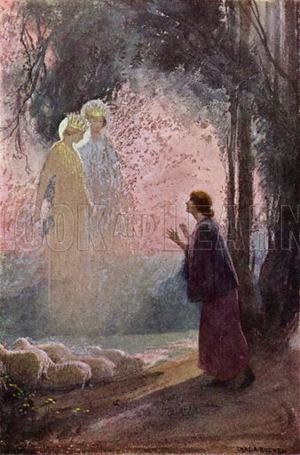 The Call. Illustration for The Story of Jeanne D'Arc by E M Wilmot-Buxton (Harrap, 1924).