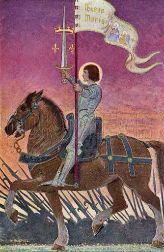 La Pucelle. Illustration for The Story of Jeanne D'Arc by E M Wilmot-Buxton (Harrap, 1924).