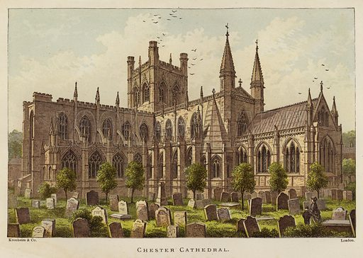 Chester Cathedral. Illustration for The Sunday at Home (1878).