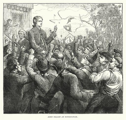 John Nelson at Nottingham. Illustration for The Sunday at Home (1878).
