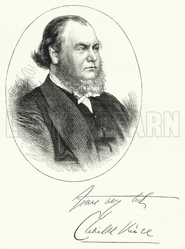 The Rev Charles Vince of Birmingham. Illustration for The Sunday at Home (1878).