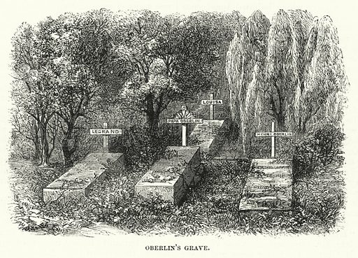 Oberlin's Grave. Illustration for The Sunday at Home (1878).