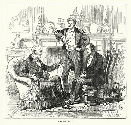 The Two Sons. Illustration for The Sunday at Home (1878).
