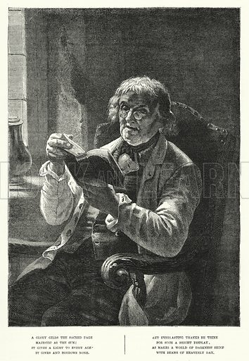 The Word of God. Illustration for The Sunday at Home (1878).