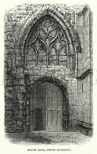 South Door, South Transept. Illustration for The Sunday at Home (1878).