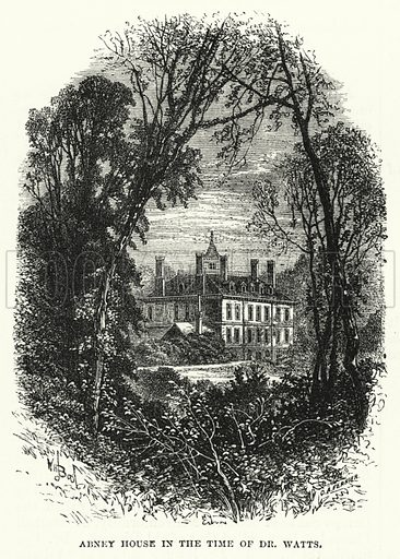 Abney House in the Time of Dr Watts. Illustration for The Sunday at Home (1878).