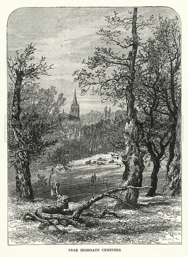 Near Highgate Cemetery. Illustration for The Sunday at Home (1878).