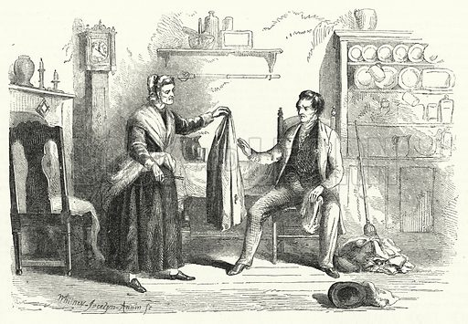 Patriotism of Mother Bailey. Illustration for The United States Magazine, Vol I (J M Emerson, nd).
