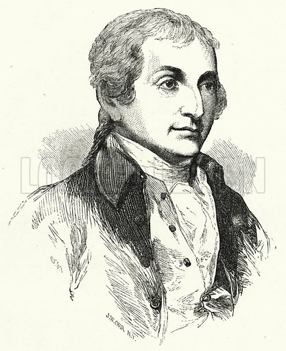 John Jay. Illustration for The United States Magazine, Vol I (J M Emerson, nd).