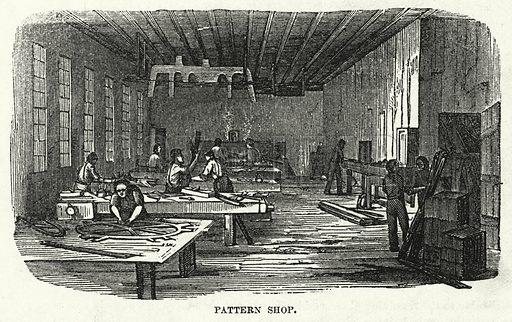 Pattern Shop. Illustration for The United States Magazine, Vol I (J M Emerson, nd).