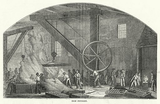 Iron Foundry. Illustration for The United States Magazine, Vol I (J M Emerson, nd).