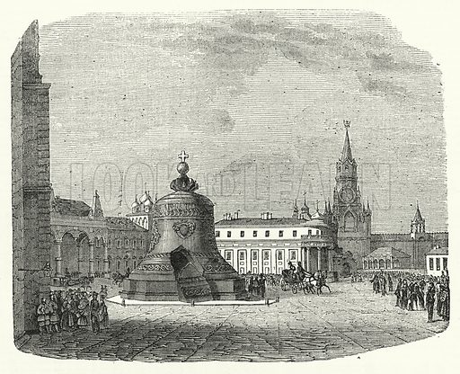 The Great Bell of Moscow. Illustration for The United States Magazine, Vol I (J M Emerson, nd).