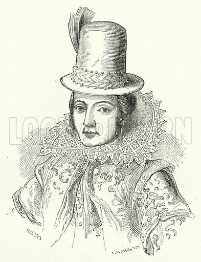 Pocahontas. Illustration for The United States Magazine, Vol I (J M Emerson, nd).