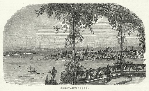 Constantinople. Illustration for The United States Magazine, Vol I (J M Emerson, nd).