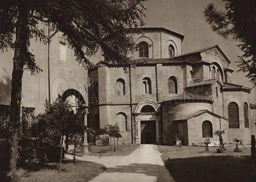 Ravenna, S Vitale.  Illustration for Unbekanntes Italien [Unknown Italy] by Kurt Hielscher (F A Brockhaus, 1941). Gruvure printed.