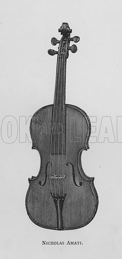 Nicholas Amati. Illustration for The Violin: Its Famous Makers and Their Imitators by George Hart (Dulau, 1880).