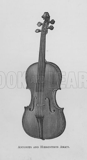 Antonius and Hieronymus Amati. Illustration for The Violin: Its Famous Makers and Their Imitators by George Hart (Dulau, 1880).