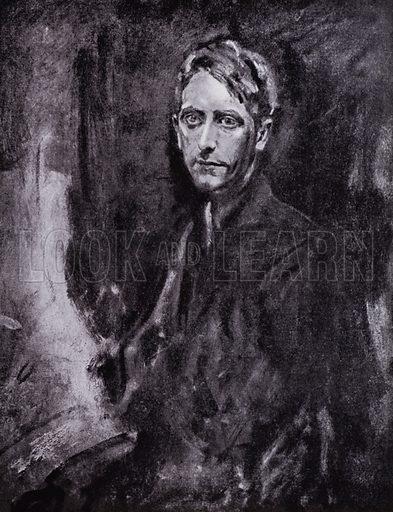 Ambrose McEvoy, self-portrait, 1919. Illustration for The Work of Ambrose McEvoy (Colour, 1923).