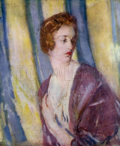 Lady Gwendoline Churchill, 1917. Illustration for The Work of Ambrose McEvoy (Colour, 1923).