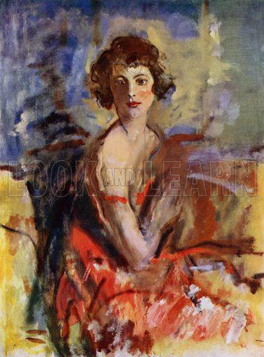 Study for a Portrait, The Hon Lois Sturt, 1923. Illustration for The Work of Ambrose McEvoy (Colour, 1923).