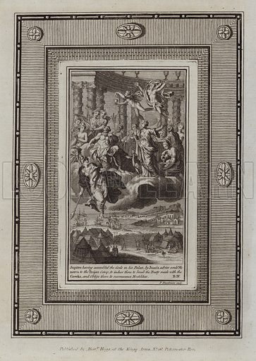 Jupiter having assembled the Gods in his Palace, by Juno