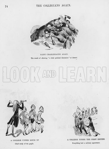 Page from Two Hundred Sketches Humorous and Grotesque by Gustave Dore (2nd edn, Frederick Warne, c 1867).