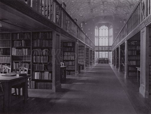 The General Library of the University. Illustration for University of Bristol 1925 (J W Arrowsmith, 1925).  Photographs are credited to F Beech Williams and F Bromhead (1).