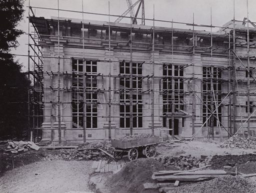 Part of one Wing of the new Physics Laboratories, to be completed in 1926. Illustration for University of Bristol 1925 (J W Arrowsmith, 1925).  Photographs are credited to F Beech Williams and F Bromhead (1).
